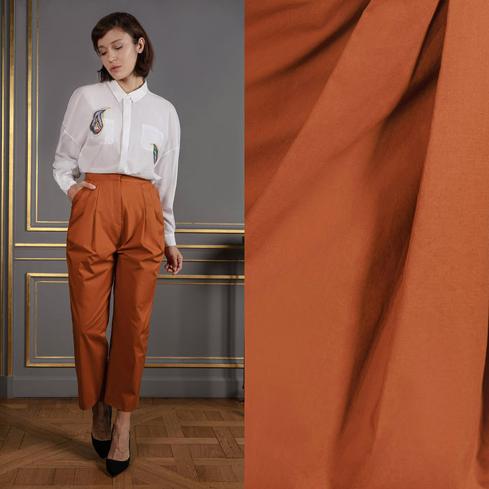 Autumn brown peg leg pants